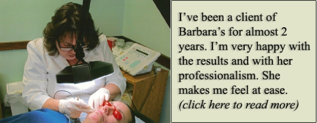 accentuous electrolysis maine permanent hair removal Barbara Berube